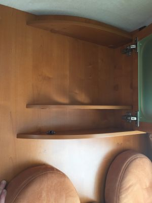 Shelf space in Demelza Motorhome