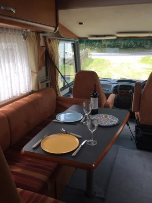 Dinner for 2 in Demelza Motorhome