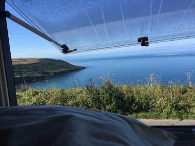 Waking up to a view of the beautiful Cornish coast