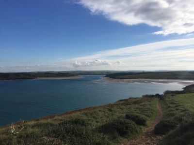 View of the Cornish South West Coast path